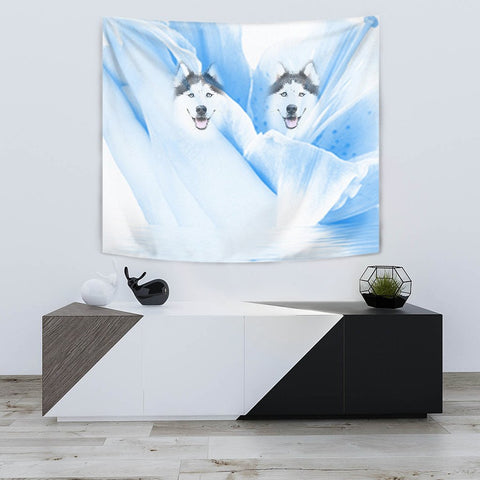 Siberian Husky Print Tapestry-Free Shipping