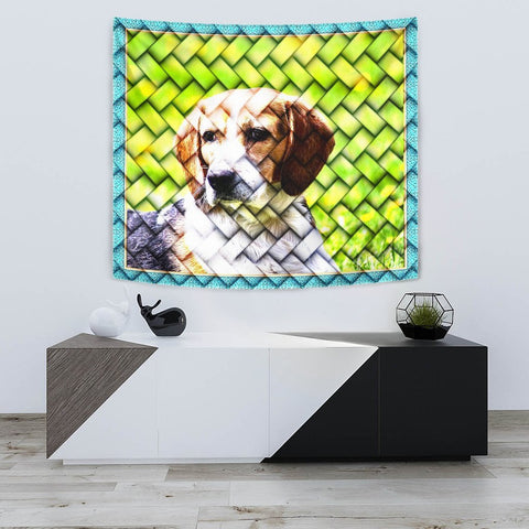 Beagle Dog Art Print Tapestry-Free Shipping