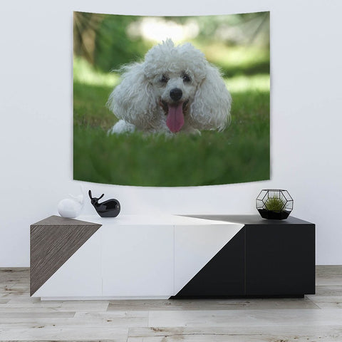 Cute Poodle Puppy Print Tapestry-Free Shipping