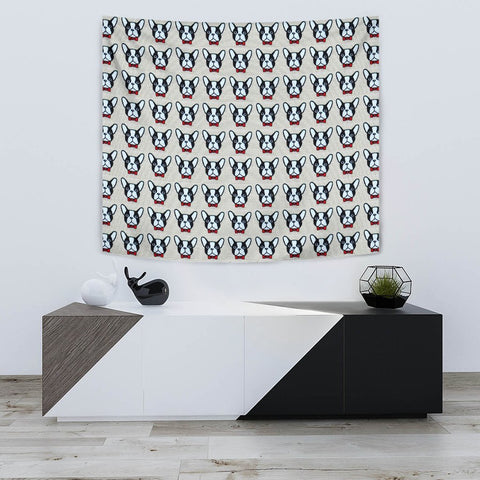 French Bulldog Pattern Print Tapestry-Free Shipping