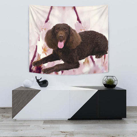 American Water Spaniel Print Tapestry-Free Shipping