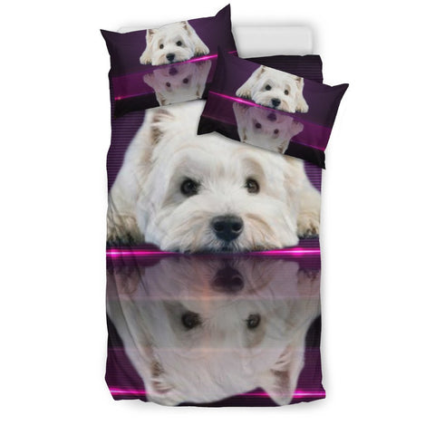 Cute West Highland White Terrier (Westie) Dog Print Bedding Set-Free Shipping