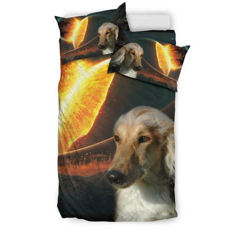 Amazing Afghan Hound Dog Print Bedding Set-Free Shipping