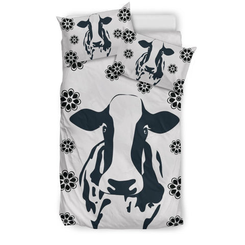 Cow With Flowers Print Bedding Sets-Free Shipping