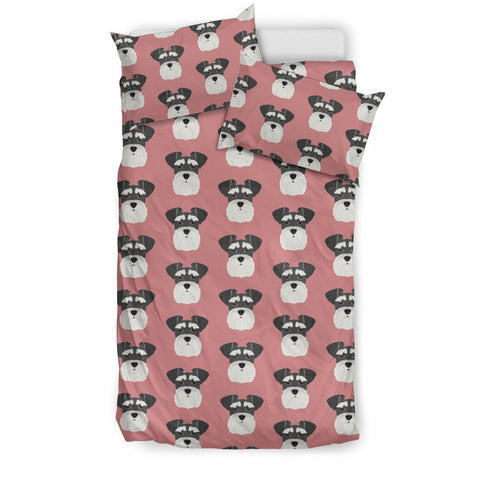 Miniature Schnauzer Print Pink Bedding Set-Free Shipping