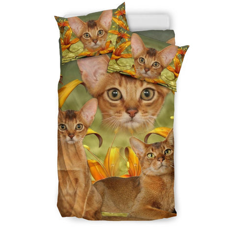 Cute Abyssinian Cat Print Bedding Set- Free Shipping