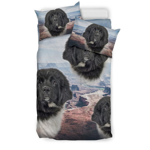 Cute Newfoundland Dog Print Bedding Set- Free Shipping