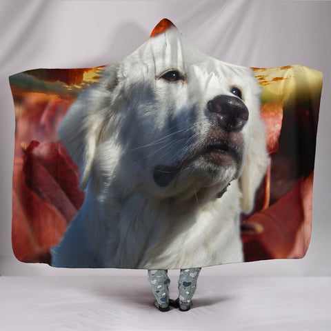 Great Pyrenees Print Hooded Blanket-Free Shipping