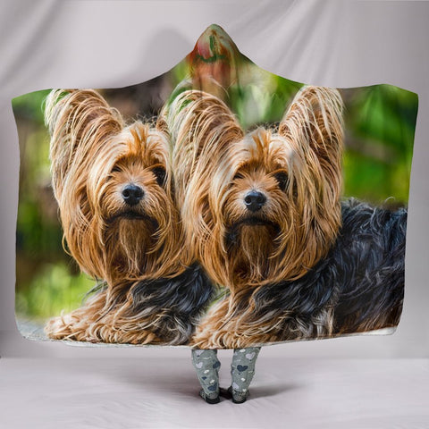 Yorkshire Terrier Dog Print Hooded Blanket-Free Shipping