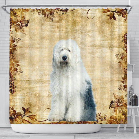 Cute Old English Sheepdog Print Shower Curtains-Free Shipping