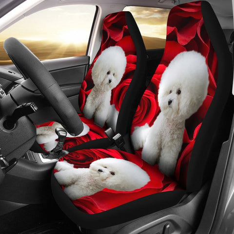 Bichon Frise Dog Print Car Seat Covers- Free Shipping