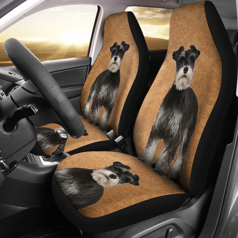 Cute Miniature Schnauzer Print Car Seat Covers-Free Shipping