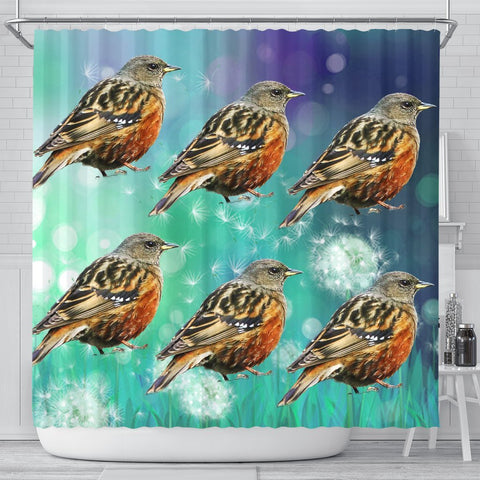 Lovely Accentor Bird Print Shower Curtains-Free Shipping