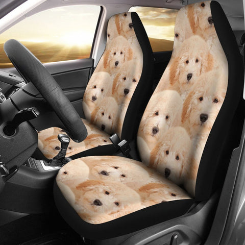 Goldendoodle In Lots Print Car Seat Covers-Free Shipping