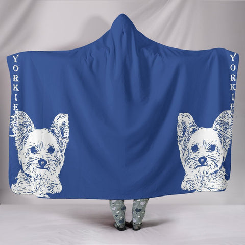 Yorkshire Terrier (Yorkie) Print Hooded Blanket-Free Shipping