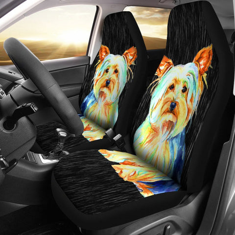 Cute Yorkshire Terrier (Yorkie) Art Print Car Seat Covers- Free Shipping