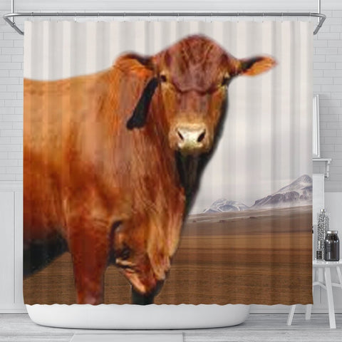Senepol Cattle (Cow) Print Shower Curtain-Free Shipping