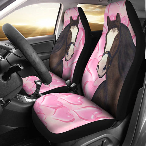 Clydesdale horse Love Print Car Seat Covers- Free Shipping