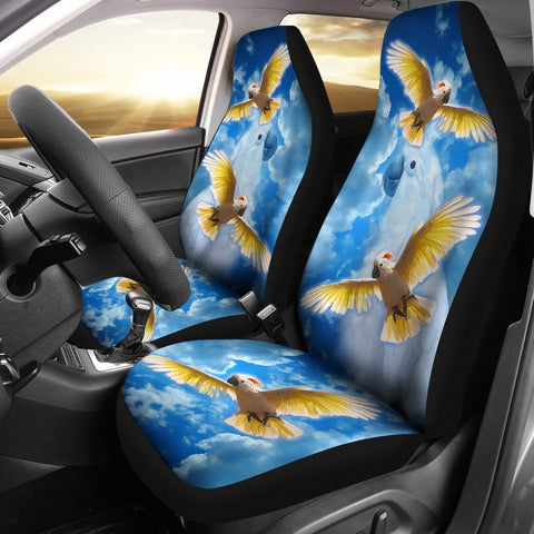 Salmon-Crested Cockatoo Print Car Seat Covers- Free Shipping