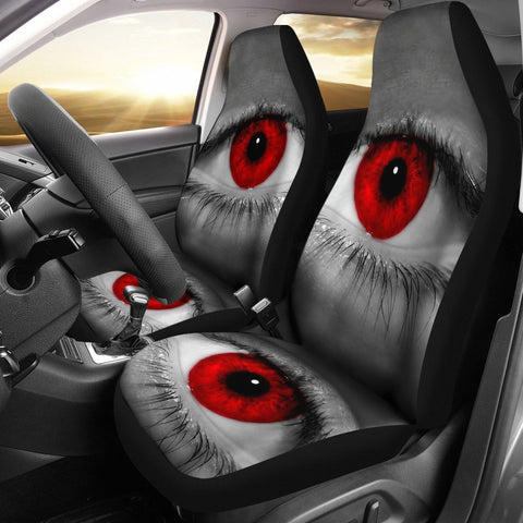 Red Eyes Print Car Seat Covers-Free Shipping
