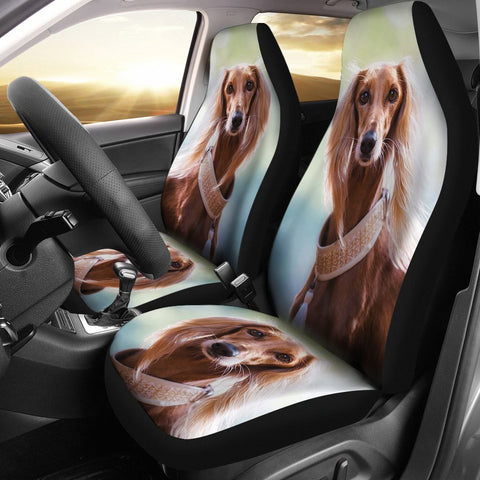 Lovely Saluki Dog Print Car Seat Covers-Free Shipping