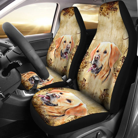 Labrador Retriever Dog Print Car Seat Covers- Free Shipping