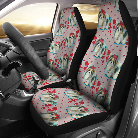 Cute Yorkie Dog Pattern Print Car Seat Covers-Free Shipping