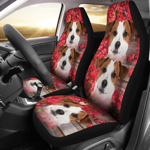 Jack Russell Terrier On Pink Print Car Seat Covers-Free Shipping