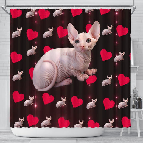 Sphynx Cat Print Shower Curtain-Free Shipping