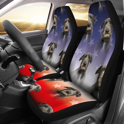 Scottish Deerhound Dog Print Car Seat Covers-Free Shipping