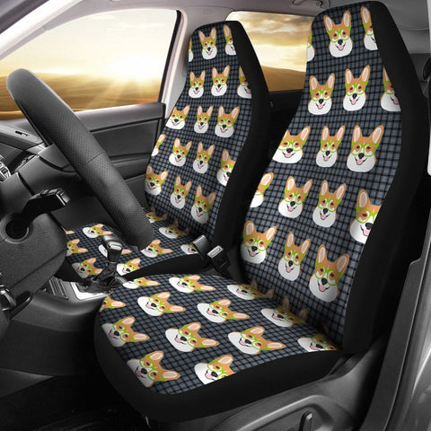 Pembroke Welsh Corgi Patterns Print Car Seat Covers-Free Shipping