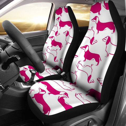 Dachshund Dog Patterns Print Car Seat Covers-Free Shipping