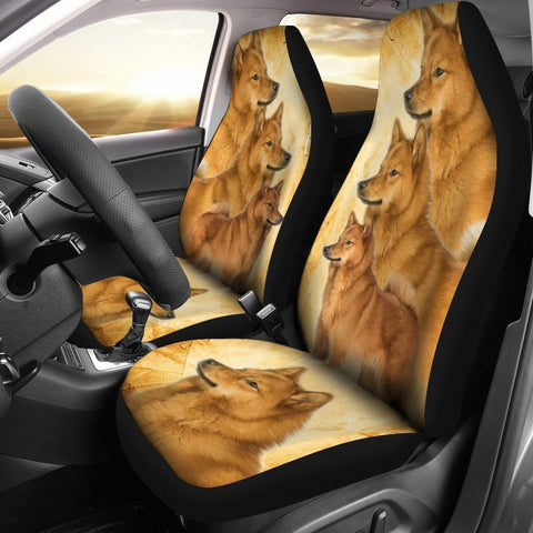 Finnish Spitz Dog Print Car Seat Covers- Free Shipping