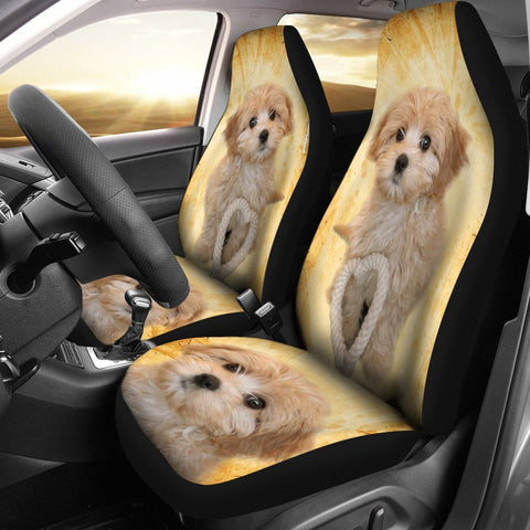 Cavapoo Dog Print Car Seat Covers- Free Shipping