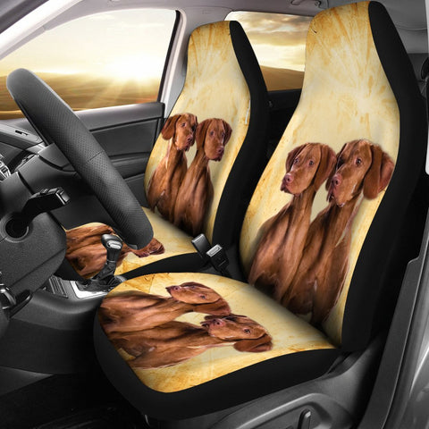 Cute Vizsla Dog Print Car Seat Covers- Free Shipping