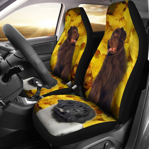 Newfoundland Dog Print Car Seat Covers-Free Shipping