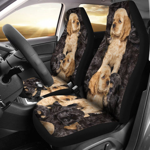 Cocker Spaniel In Lots Print Car Seat Covers-Free Shipping