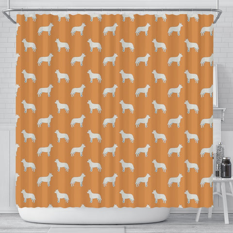 Australian Cattle Dog Pattern Print Shower Curtains-Free Shipping