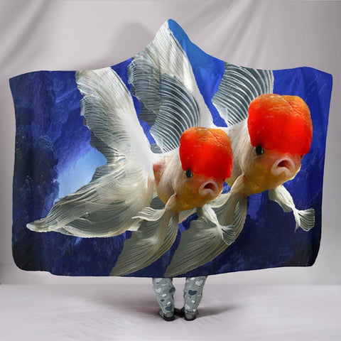 Oranda Fish Print Hooded Blanket-Free Shipping