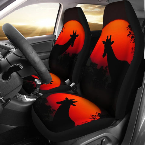 Giraffe Shadow Print Car Seat Covers-Free Shipping