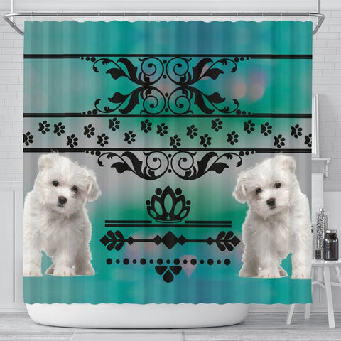 Maltese dog Print Shower Curtain-Free Shipping