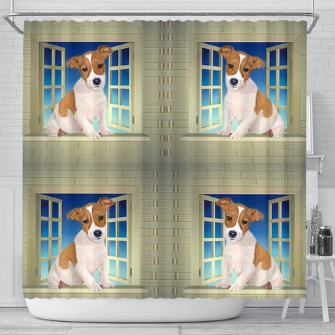Jack Russell Terrier Print Shower Curtain-Free Shipping