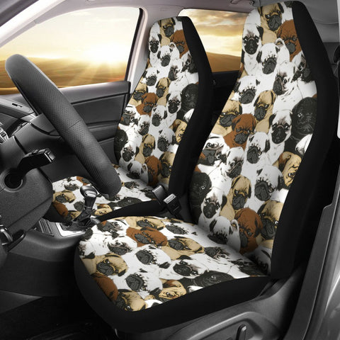Pug Patterns Print Car Seat Covers-Free Shipping
