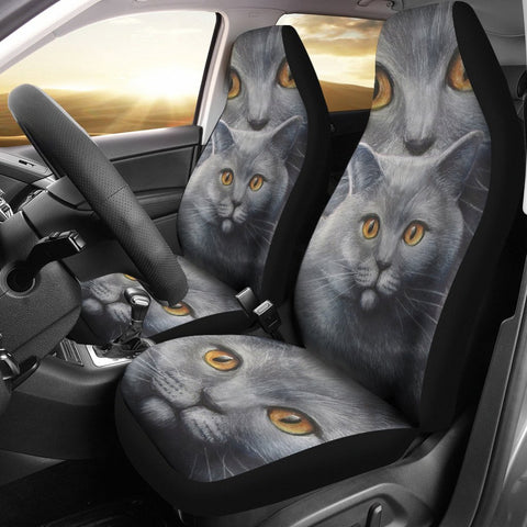 Russian Blue Cat Print Car Seat Covers-Free Shipping
