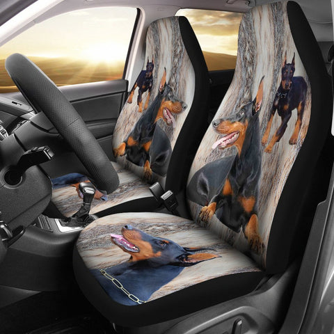 Doberman Pinscher Print Car Seat Covers- Free Shipping