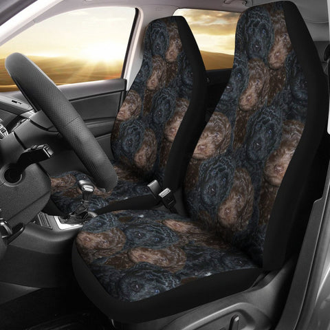 Barbet Dog In Lots Print Car Seat Covers-Free Shipping