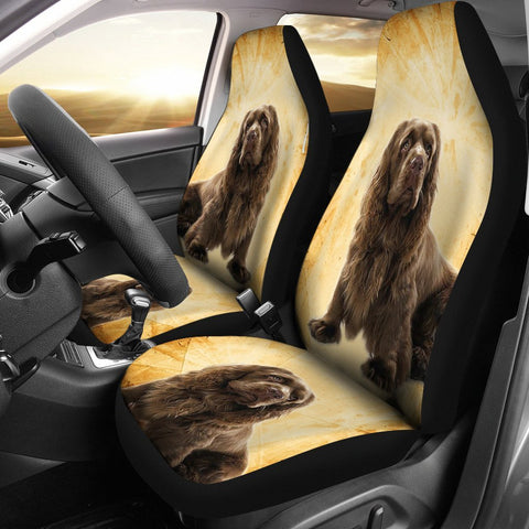 Sussex Spaniel Patterns Print Car Seat Covers- Free Shipping