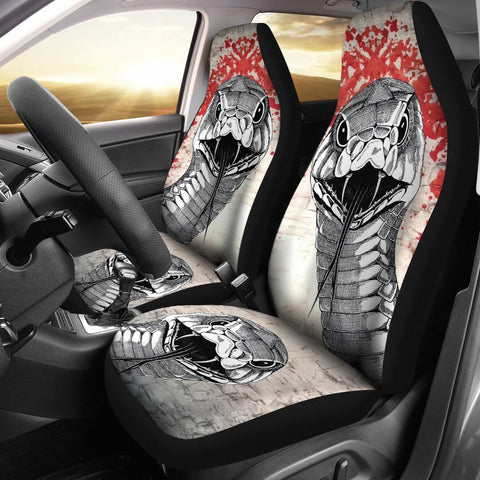 Sketch of Snake Print Car Seat Covers-Free Shipping
