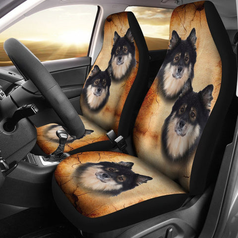 Cute Finnish Lapphund Print Car Seat Covers-Free Shipping