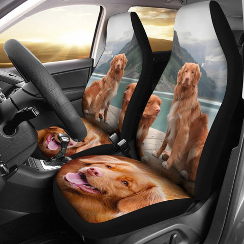 Nova Scotia Duck Tolling Retriever Dog Print Car Seat Covers-Free Shipping